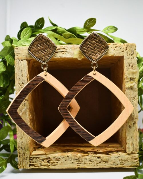 woody woody square earrings